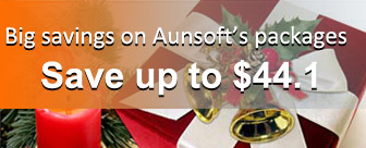 Thanksgiving discount from Aunsoft-get bundled software at 35% off