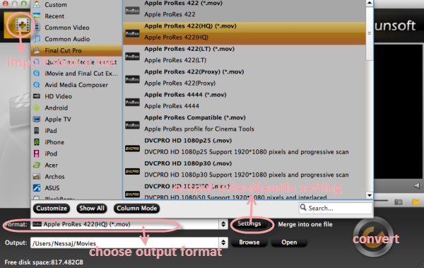 transmxf main 0916 Trick to convert  Panasonic HPX300 MXF to MOV without using FCP