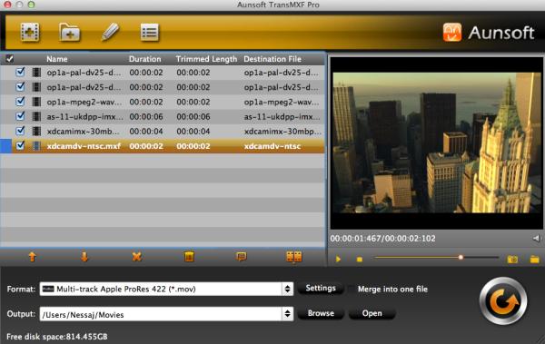 Aunsoft TransMXF Pro for Mac 1.1.0.5326 full